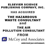 Elsevier Science Publishing Company, Inc. Has Acquired The Hazardous Waste Consultant And The Air Pollution Consultant From McCoy And Associates