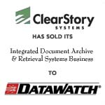 Berkery, Noyes & Co. advises ClearStory Systems on its divestiture of Document Solutions Business to Datawatch Corporation