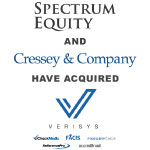 Berkery Noyes Advises Verisys' Shareholders on the Company's Growth Investment from Spectrum Equity and Cressey & Company